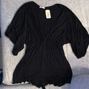 Black boutique style romper new with tags